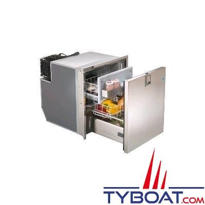 Indel Marine - Réfrigérateur à 1 tiroir + freezer 49 Litres - Drawer DR49 Inox - 12/24 Volts