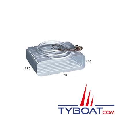 Indel Marine - Evaporateur caisson 380 x 270 x 140 mm avec raccords