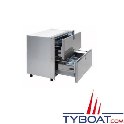 Réfrigérateur 2 tiroirs INDEL - 190 litres - inox - 900x715x740mm