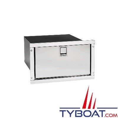 Réfrigérateur tiroir encastrable INDEL - 36 litres - façade inox - 455x250x715mm