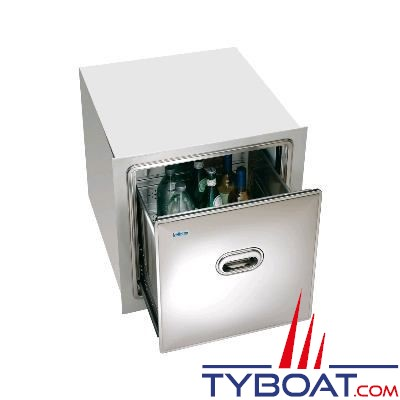 Réfrigérateur tiroir INDEL - 105 litres - inox - 540x540x580mm