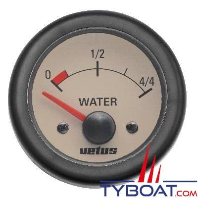 Indicateur beige niveau d'eau Vetus WATER12W 12V Ø 58mm