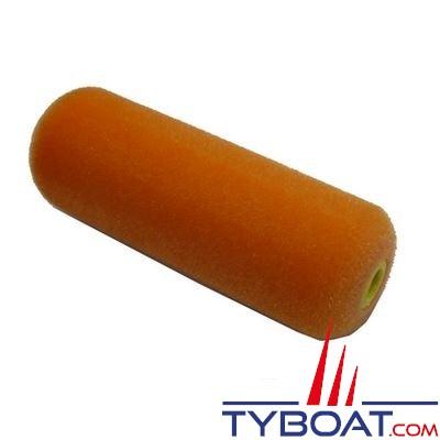 Rouleau laqueur mousse floquée orange 11 cm