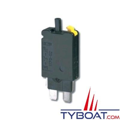 Interrupteur disjoncteur ETA type 1170 thermique unipolaire 12/24v 25A