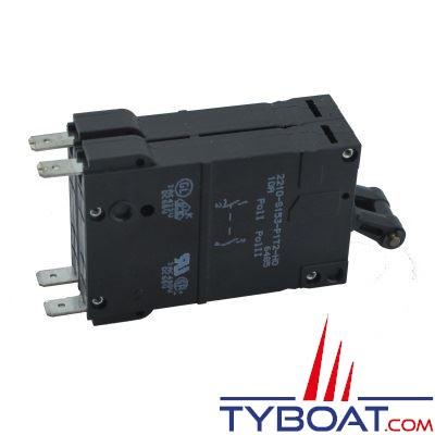 Interrupteur disjoncteur magn to thermique eta 2210s 12 24 vdc 220 vac bipolaire 16a eta ed037 - Disjoncteur magneto thermique ...