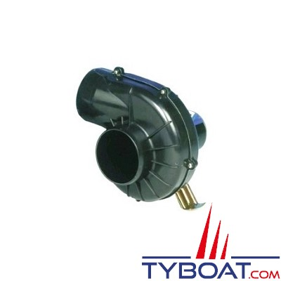 JABSCO - 35515 - Ventilateur usage intermittent étrier 12V 2,9m3/mn