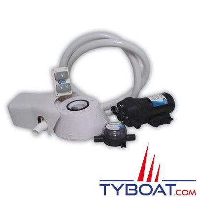 Jabsco  37255-0092  Kit conversion 12V WC Quiet Flush avec pompe à eau