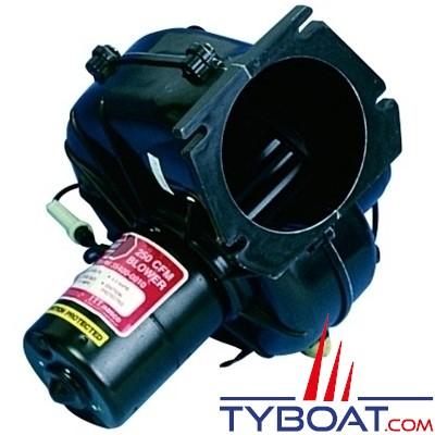 Jabsco - Ventilateur 34739-0010 - 12 Volts - 4m3/minute - Montage sur cloison