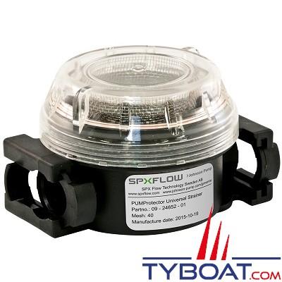 Johnson Pump - Filtre à eau de protection - D80 - pour tous type de pompes avec 2 adaptateurs