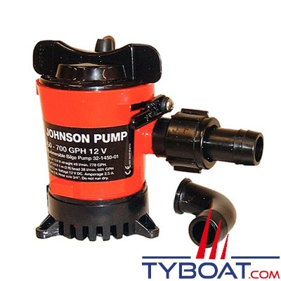 JOHNSON PUMP - Pompe de cale à cartouche 12 Volts  L750