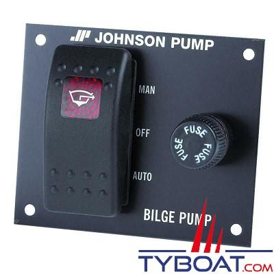 Johnson Pump - Tableau de commande pour pompe de cale - 12 Volts