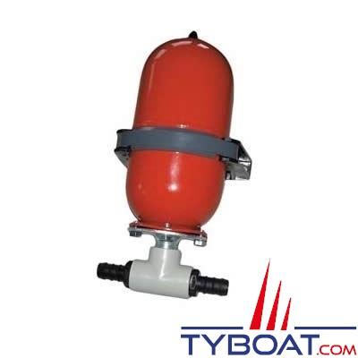 Johnson Pump - Vase d'expansion 0.8 Bar -2 litres - Diamètre 19 - 315 x 160 millimètres