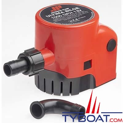 JOHNSON PUMP - Pompe de cale automatique Ultima Bilge 600GPH 12 Volts 2280 Litres/Heure