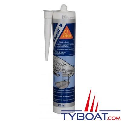 Joint d'étanchéité Sikaflex SIKASIL-P marine silicone sans solvant - Blanc - cartouche 310 ml