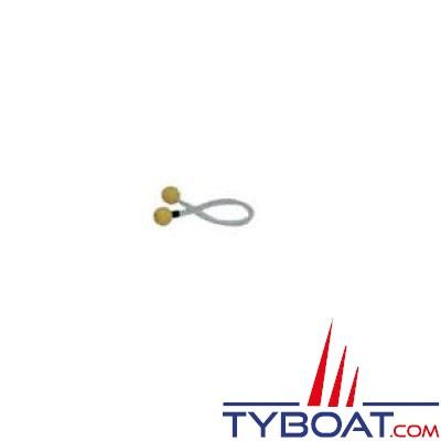 3 ferlettes nylon Ø 4mm longueur 30cm jaune
