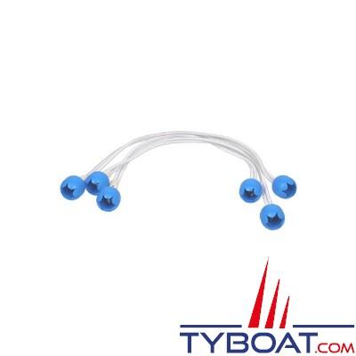 3 ferlettes nylon Ø 4mm longueur 40cm Bleu