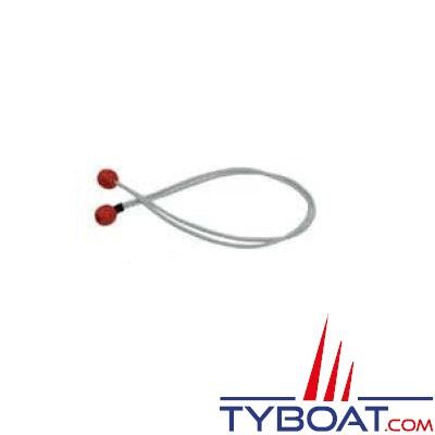 3 ferlettes nylon Ø 4mm longueur 60cm Rouge