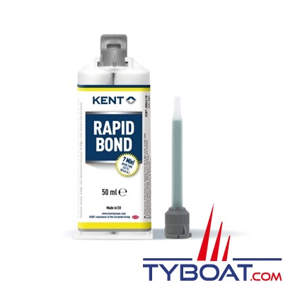 Kent Europe - Colle méthacrylate Rapid Bond blanc 5 minutes - 50 ml
