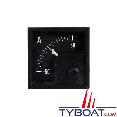 Pros by Ditel - Ampèremètre DC analogique - 50/50A