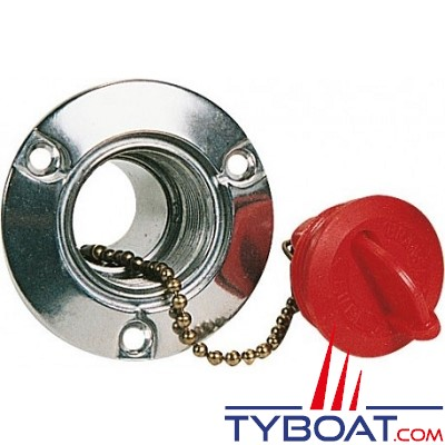 KENT MARINE - Bouchon rouge + chaîne pour Nable pont alu réservoir carburant 38mm