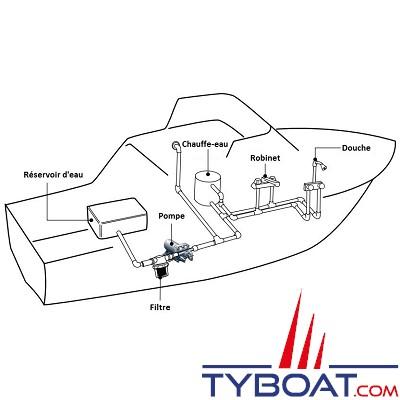 KENT MARINE - Pompe à eau de mer 12V pour groupe froid