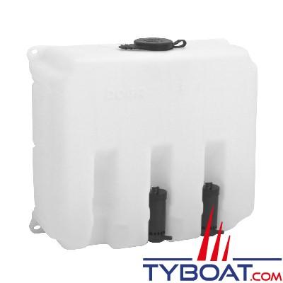 Exalto - Réservoir lave-glace en polyéthylène + 2 pompes 12 Volts - Capacité 8 Litres