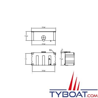 Kent Marine - Réservoir lave-glace en polyéthylène + 2 pompes 24 Volts - Capacité 5 Litres
