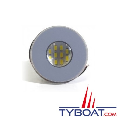 Kent marine - Spot 10 LED - Lentille claire - 12/24 Volts - Clips - Ø 70 mm