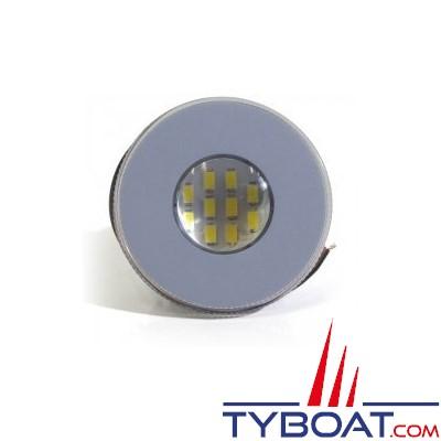 Kent Marine - Spot 10 LED - Lentille claire - 12/24 Volts - Ressorts + Amp - Ø 70 mm