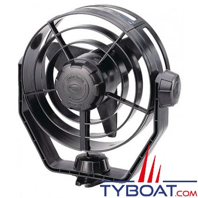 HELLA MARINE - Ventilateur TURBO - 12 Volts - Sur socle - Noir