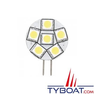 Ampoule à Led G4 - 6 Leds - varivolts 10 à 30 Volts - Ø 26 mm - Connexion latérale