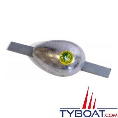 Anode à souder aluminium 0.5KG 105x75x40 insert 195mm