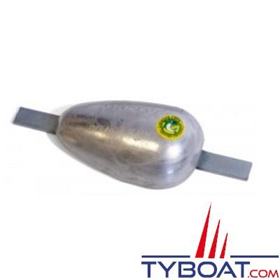 Anode à souder aluminium 0.9 KG 144x92x44 insert 232mm