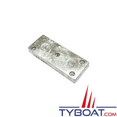 Anode plaque de flaps à visser zinc - 118 x 33 x 19 mm - 0.45 Kg