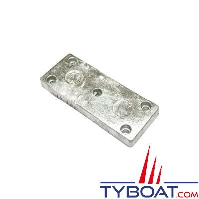 Anode plaque zinc 100 x 75 25 mm 1.1 kg