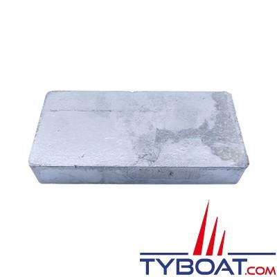 Anode plaque zinc- 150 x 75 x 25 mm - 1.8 kg