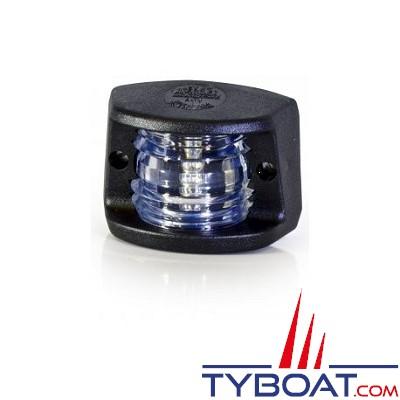 Aqua Signal - Feu de navigation - Série 20 - Montage Dos - Poupe Blanc 135° - 12 Volts - 5 Watts - Noir