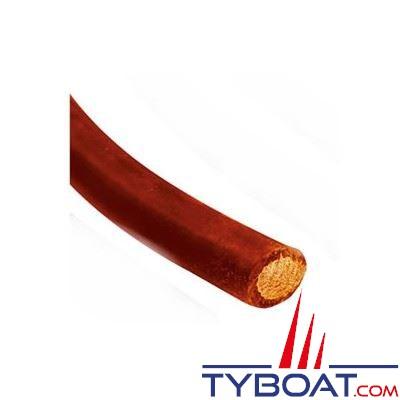 Câble de batterie souple 50 mm² rouge  - au mètre