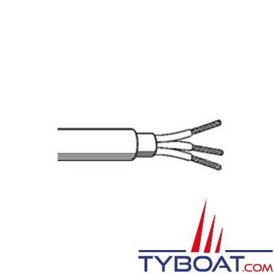 Câble monoconducteur noir HO7RNF - 25 mm² -10 mètres