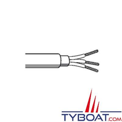 Câble multiconducteur noir HO7RNF - 2x1,5 mm² - 25 mètres