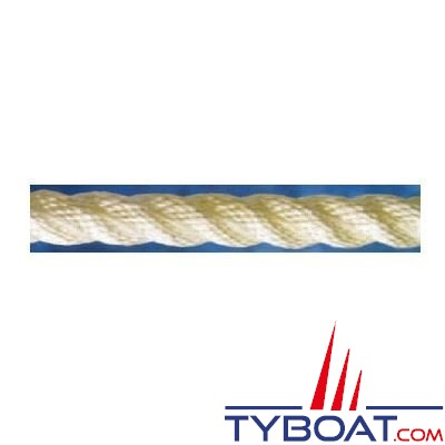 Cordage blanc polyamide 3 torons Ø 22 mm (au mètre)