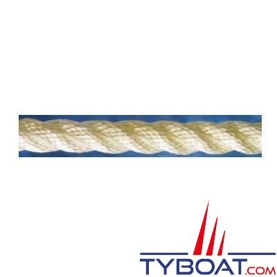 Cordage blanc polyamide 3 torons Ø  6mm x100 mètres