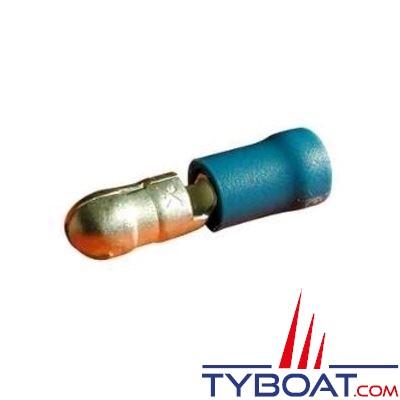 Elematic - Cosse ronde bleue mâle - Câble 1,2 à 2,6 mm² - Trou M5 - (20 pièces)