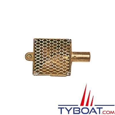 Crépine de cale bronze 56x56mm Ø sortie 16mm
