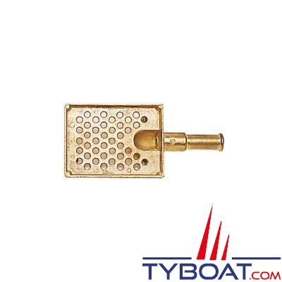 Crépine de cale bronze 91x71mm Ø sortie 18mm