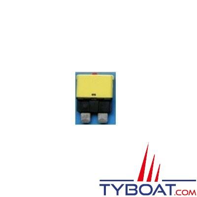 Disjoncteur thermique type 227 unipolaire réarmable 12/24V jaune 20A