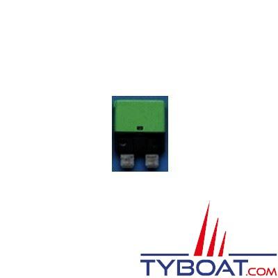 Disjoncteurs thermiques type 227 unipolaire réarmable 12/24V vert foncé  6A - lot de 10