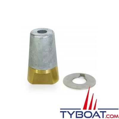 Ecrou anodique + anode conique à clavette + rondelle freins- vis 30x200mm - pour arbre 45mm