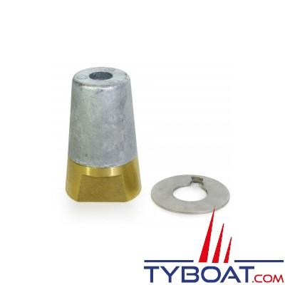 Ecrou anodique avec rondelle frein Ø45mm - 30x200mm