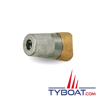 Ecrou anodique + anode conique à clavette -vis 16x150mm - pour arbre 22/25mm